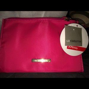 Liz Claiborne Gorgeous Hot Pink Makeup Bag